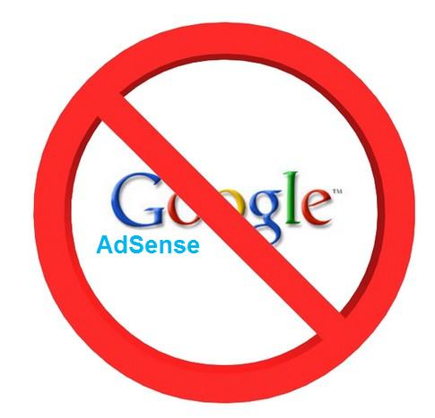 reason for disabling google adsense
