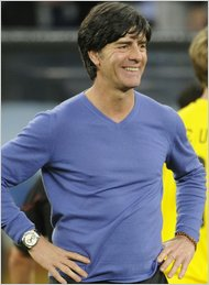 Germany's coach Joachim Loew sporting his sweater. Javier Soriano/Agence France-Presse - Getty Images