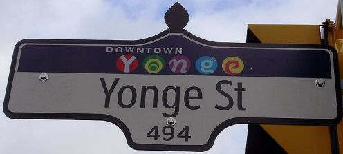 Yonge Street has been in the Guinness Records as the longest street in the world, running from Lake Ontario to Lake Simcoe and 1896 km. It was built in the 1790s along a First Nations trail.