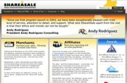 SHAREASALE screenshot
