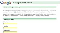 Google User Experience Research screenshot