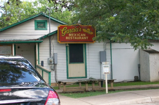 Garcia's Mexican Restaurant the cheapest in Round Rock. copyright July 2010 Sandra Mireles