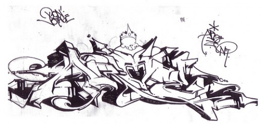 Cool Graffiti Sketches Design
