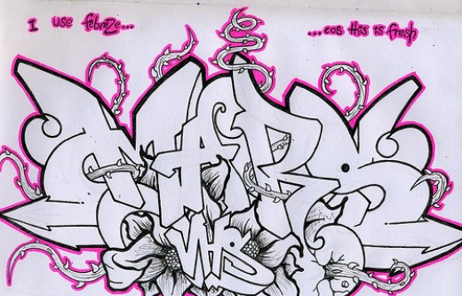Wildstyle Graffiti Sketch