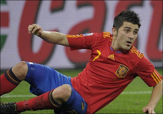 David Villa - Spain FIFA World Cup Action July 7, 2010