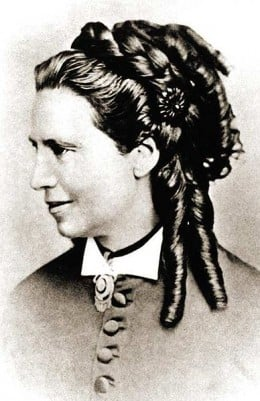 Nurse Clara Barton, circa 1871.