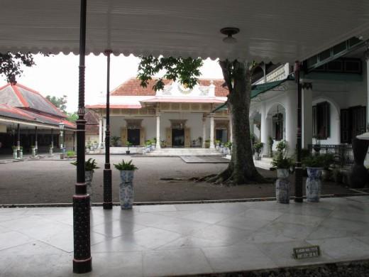 A view inside Keraton Yogjakarta.