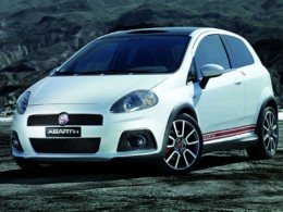 Fiat Grande Punto White - Front side view