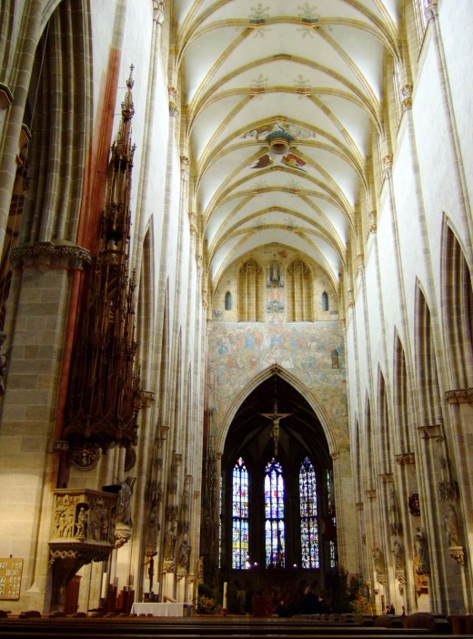 Inside the Mnster church