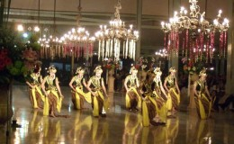 The Serimpi dancers, nine virgin ladies are dancing the special dance for special occasion in the Palace. http://www.strangerinparadise.com/