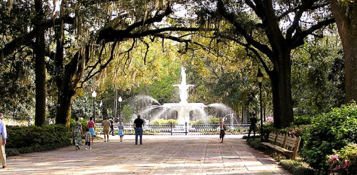 Forsyth Park - Water fountain - public domain