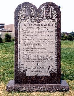 Copies of the Ten Commandments on Public Display