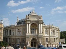 The famous Odessa Opera (Opera House)