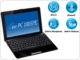 You buy the Most Advanced Connectivity with Asus eee pc 1005pe