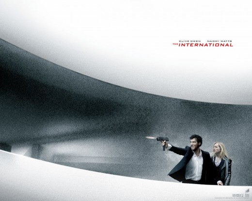 This picture was used in advertising The International and I found it very interesting... (Note: Naomi Watts not actually in the Guggenheim scene)
