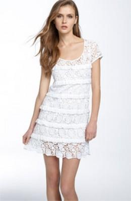 Diane von Furstenberg 'Arcelia' Crochet Lace Dress as seen on Keira Knightley