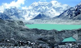 Further evidence of glacial meltdown. Melting glaciers mean that people in the Andes and south of the Himalayas will be without water for a large portion of the year.