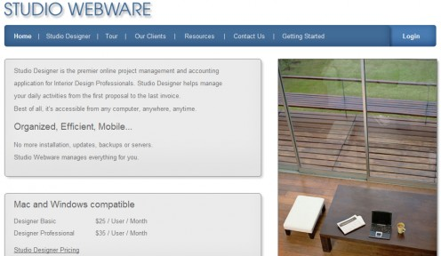 Interior design software for Web based interior design software