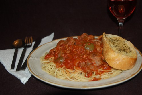 Once you try this spaghetti sauce you may never miss meat balls again!