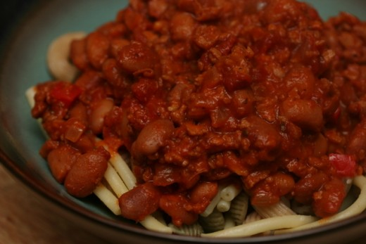 Easy mexican pasta recipe with corn and red kidney beans
