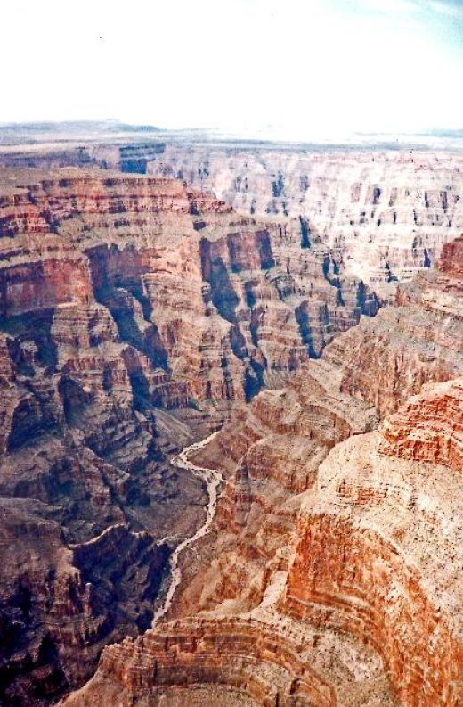 Courtesy of the C.I.A. - the Grand Canyon. See the layers? The different colors are millions of years (m.y.)