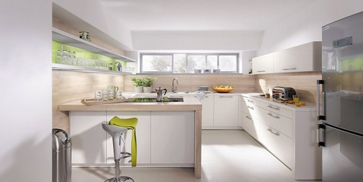Modified U-shaped kitchen