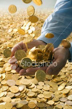 Tycoon's Hands Full of Gold
