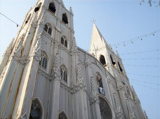 built in 1891, this is San Sebastian Church in Manila