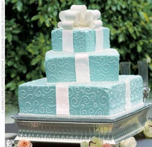 Tiffany Co Novelty Wedding Cake idea