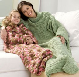 Crocheted Snuggie for Adult and Children