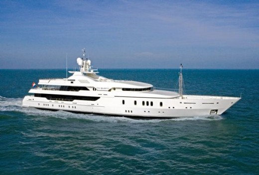 A luxury yacht is a must for the adventurous high-flyer making piles of money