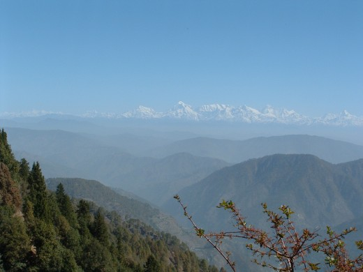 View of the Himalayan peaks from Kilbury