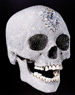 Another angle of that diamond encrusted platinum skull