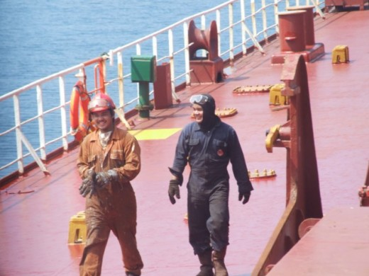 Deck Crew during their daily tasks
