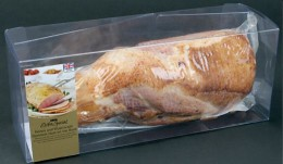 A double-wrapped meat product