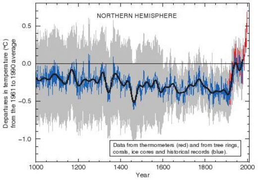 Hockey stick graph: a proven total fraud.