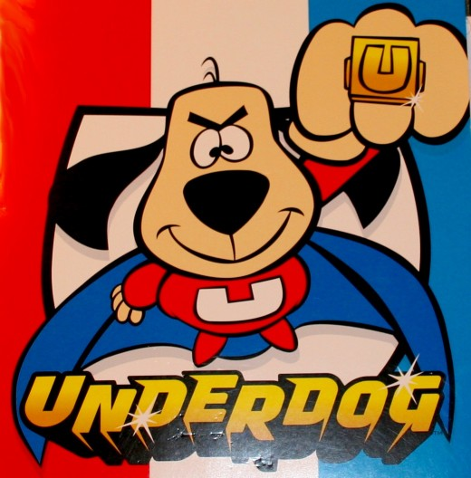 F on underdog cartoon intro