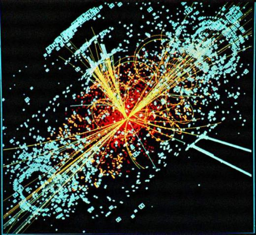 We have also developed tools to investigate the cosmos on the quantum level. This spray of unstable particle traces tells quantum physicists a lot about the cosmos.