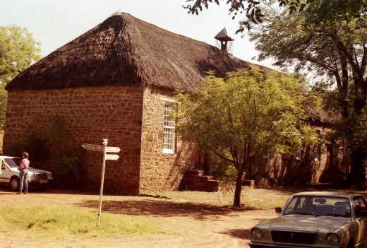 The Moffatt Mission Church in Kuruman. Moffat was the great London Missionary Scoiety pioneer. His daughter married David Livingstone. Photo Tony McGregor