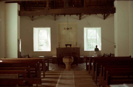 "Interior of the Moffat Church. Bernard visited this church during his ""orientation"" in 1963. Photo Tony McGregor"