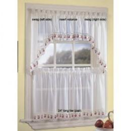 Apple Orchard Kitchen Curtain - Insert Valance