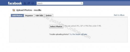 Using the Facebook Photo Uploader and getting ready to upload