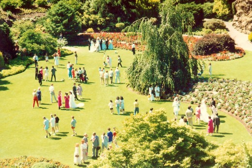At least 30 bridal parties were there that day in Queen Elizabeth Park.