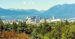 Vancouver as seen from Queen Elizabeth Park
