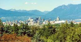 Vancouver as seen from Queen Elizabeth Park