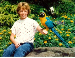 My niece and a parrot