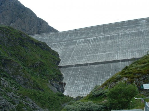 The Grand Dixence Dam.