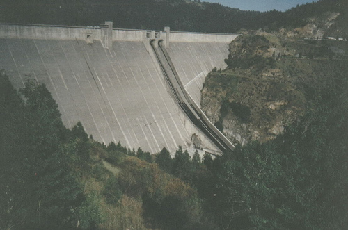 The Dworshak Dam.
