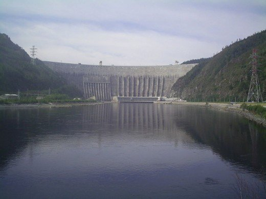 The Sayano-Shushenskaya Dam.