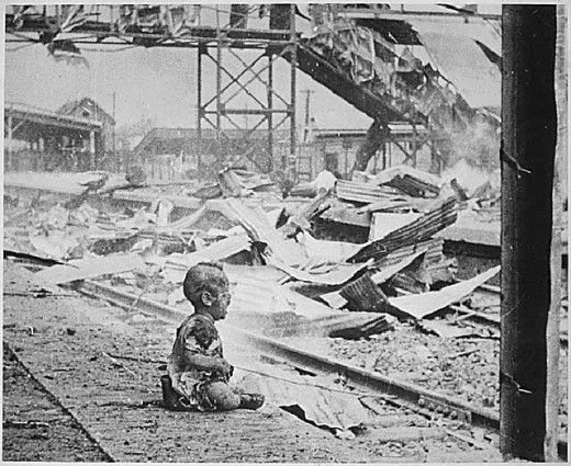 Shanghais South Station after brutal Japanese bombing in 1937